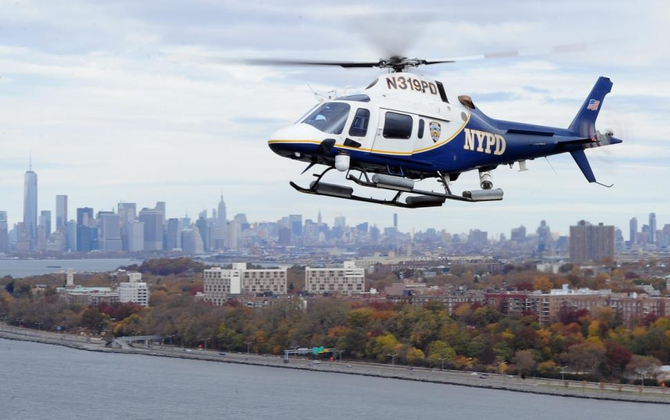 NYPD helicopter crew rescues injured hiker stranded on side of cliff overlooking Hudson River