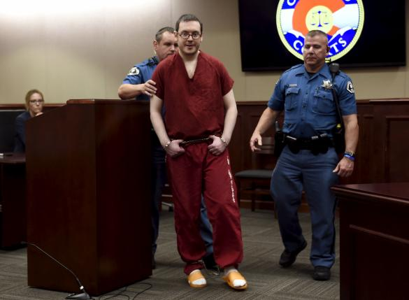 Colorado movie gunman sentenced to 12 lifetimes and 3,318 years