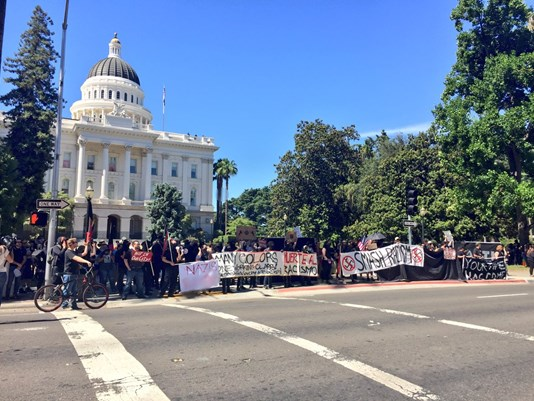 10 hospitalized after violent clashes at Capitol