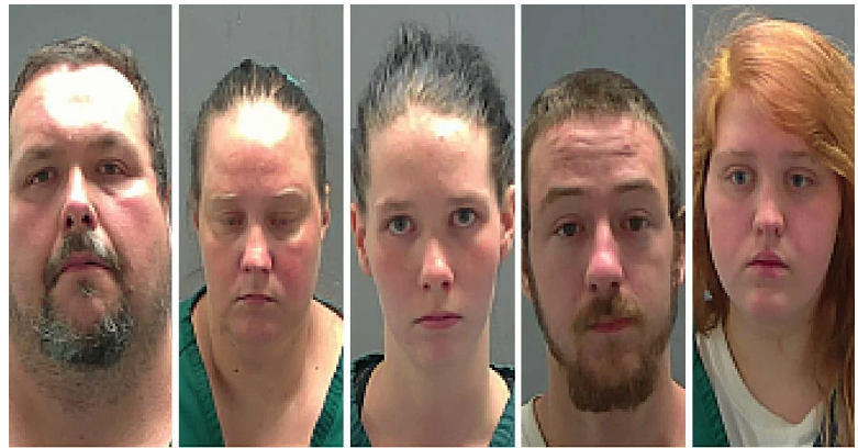 Deputies arrest five after woman with autism found living in backyard cage