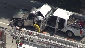 Victims, Possible DUI Driver ID'd in Crash on 10 Freeway in Fontana That Killed 4