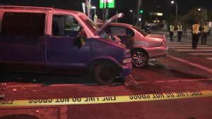 Suspected DUI Driver Crashes Into 3 Vehicles After High-Speed Pursuit in North Hollywood