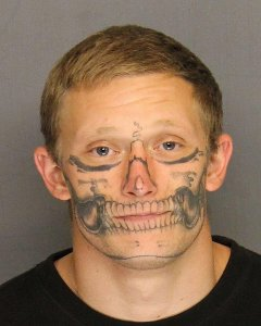 Inmate With Skeleton-Type Facial Tattoos Sought After Disappearing From Work Crew in Stockton