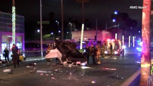 2 Killed, 4 Injured When SUV Overturned in Suspected DUI Crash in Beverly Hills