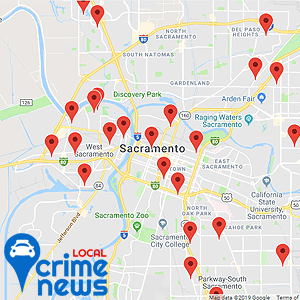 Map of the 25 latest arrests in your area