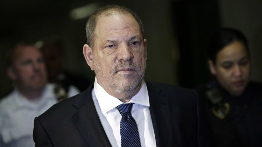 Harvey Weinstein rebuked by judge for using phone in court